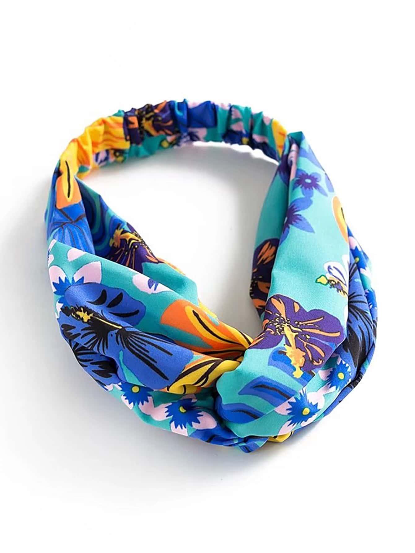 Фото Floral Print Turban Headband. Купить с доставкой