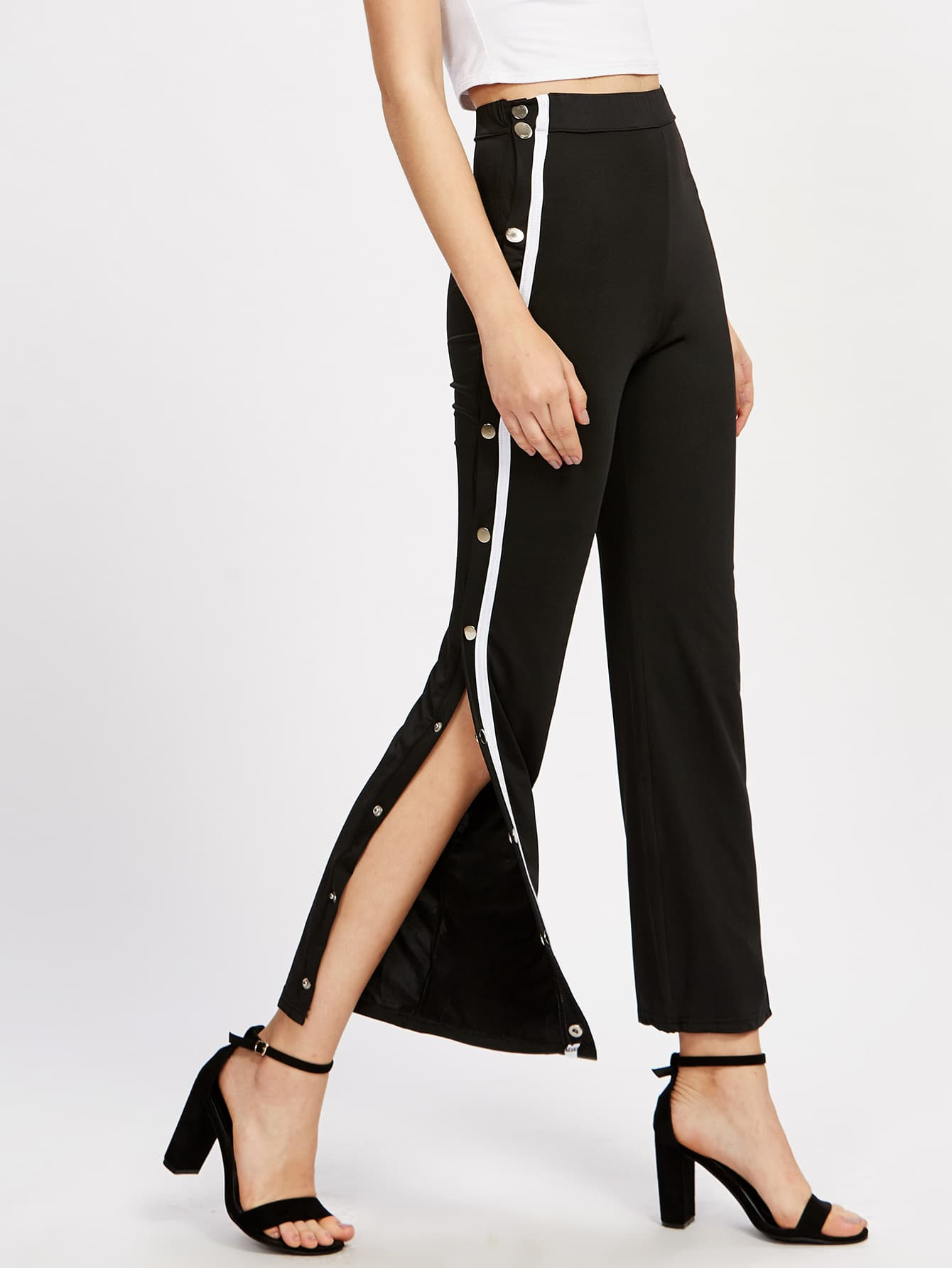 Tape Button Side Pants