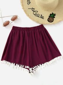 Shorts mit Pompons
