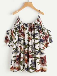 Flower Print Flowy Top