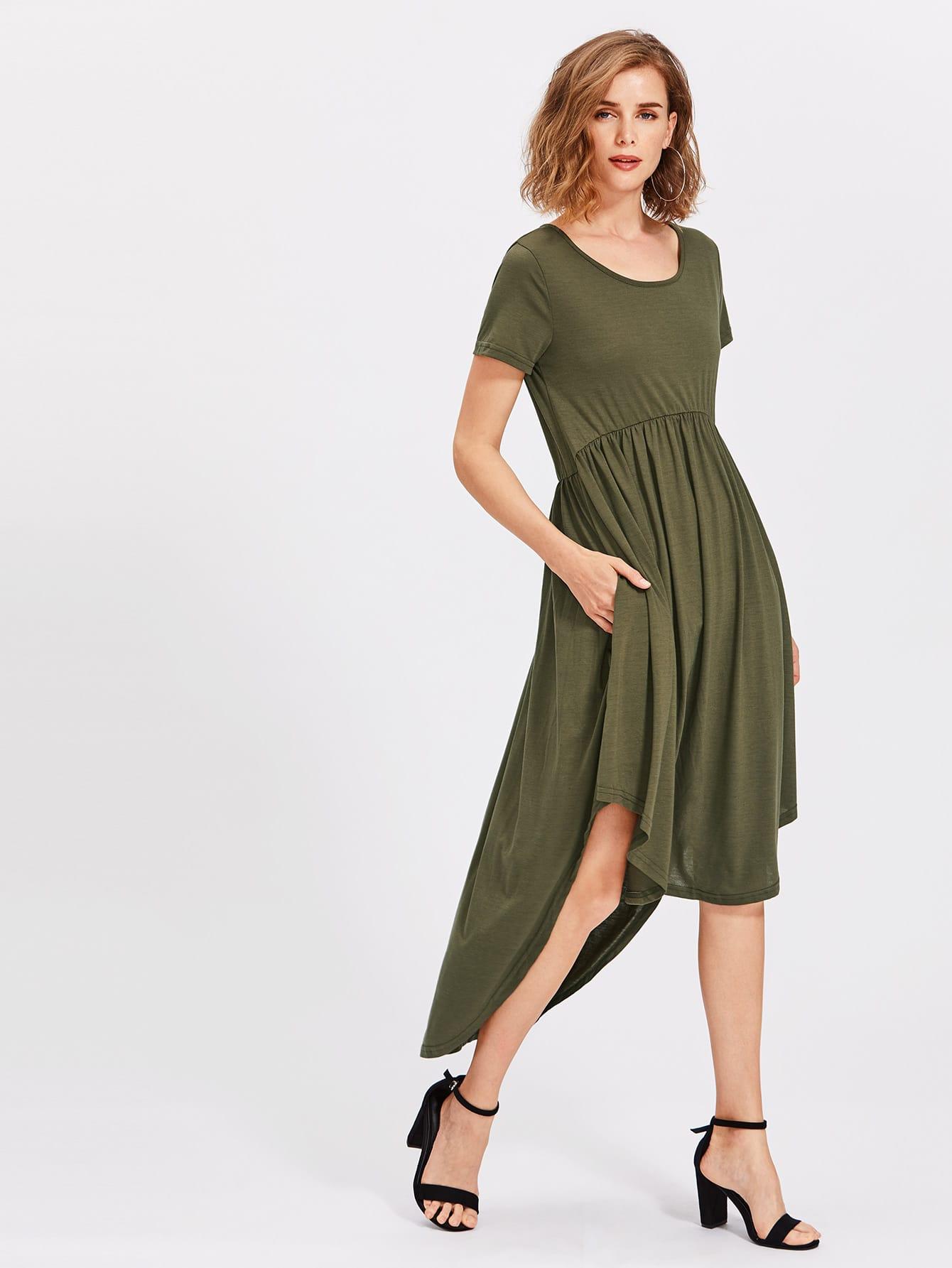 Фото High Low Curved Hem Dress. Купить с доставкой