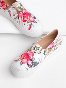 Jungle Print Slip On Plimsolls