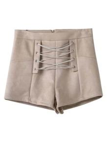 Pantaloncini con laccetti a incrocio
