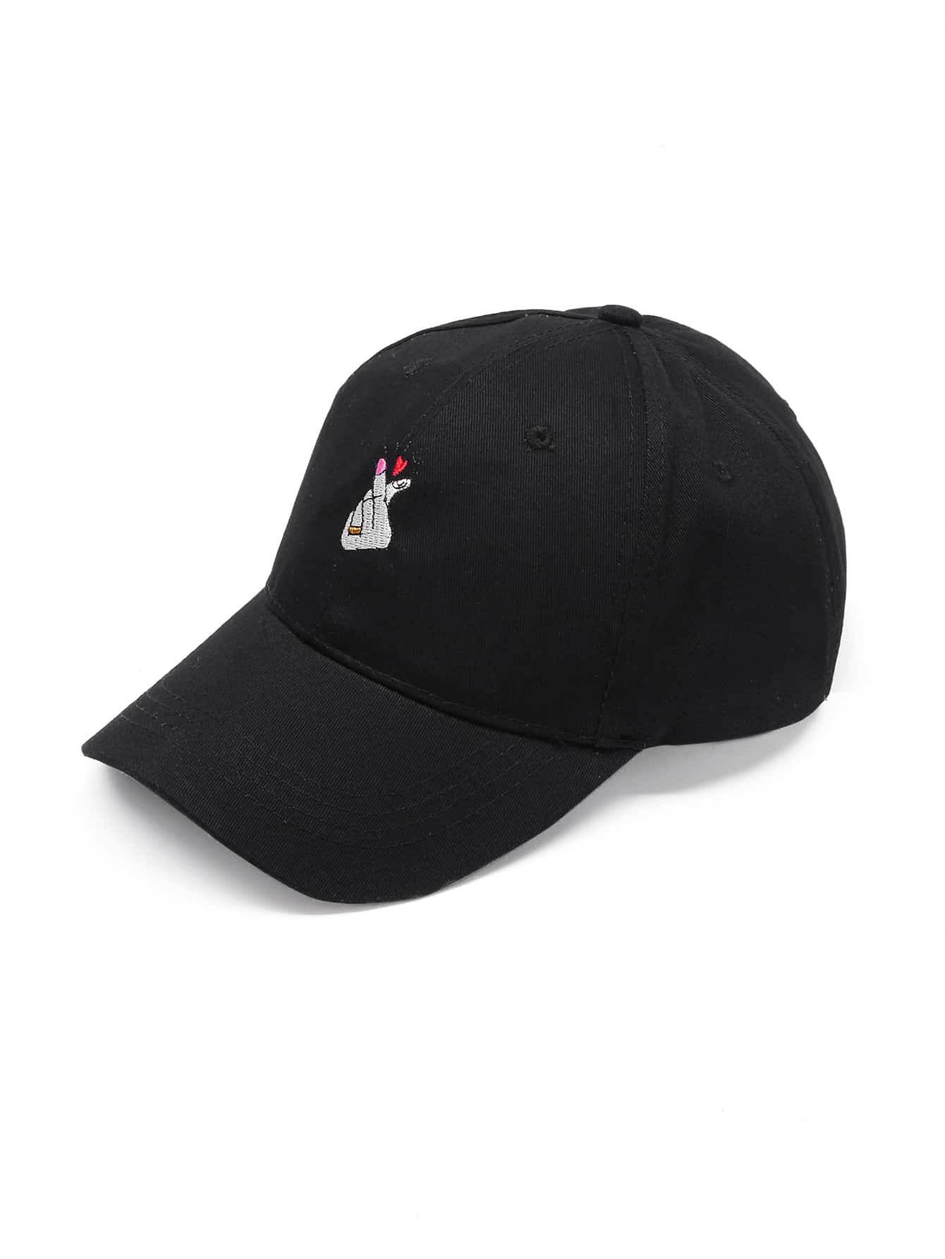 Heart Embroidery Baseball Cap