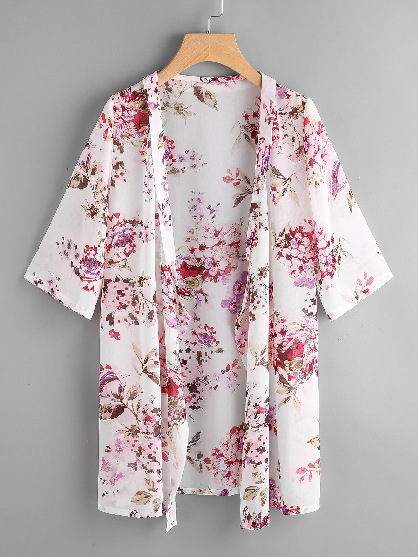 Allover Florals Beach Kimono