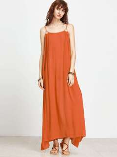 O-Ring Detail Hanky Hem Swing Cami Dress