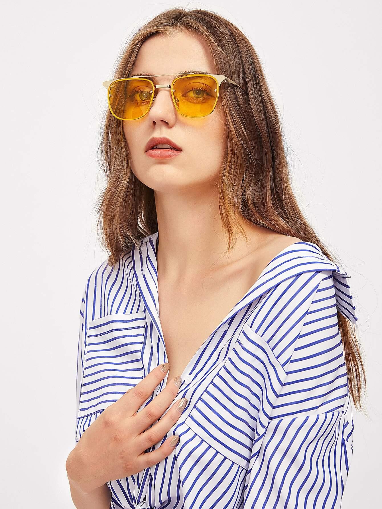 Фото Top Bar Tinted Lens Sunglasses. Купить с доставкой