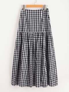 Drop Waist Gingham Skirt