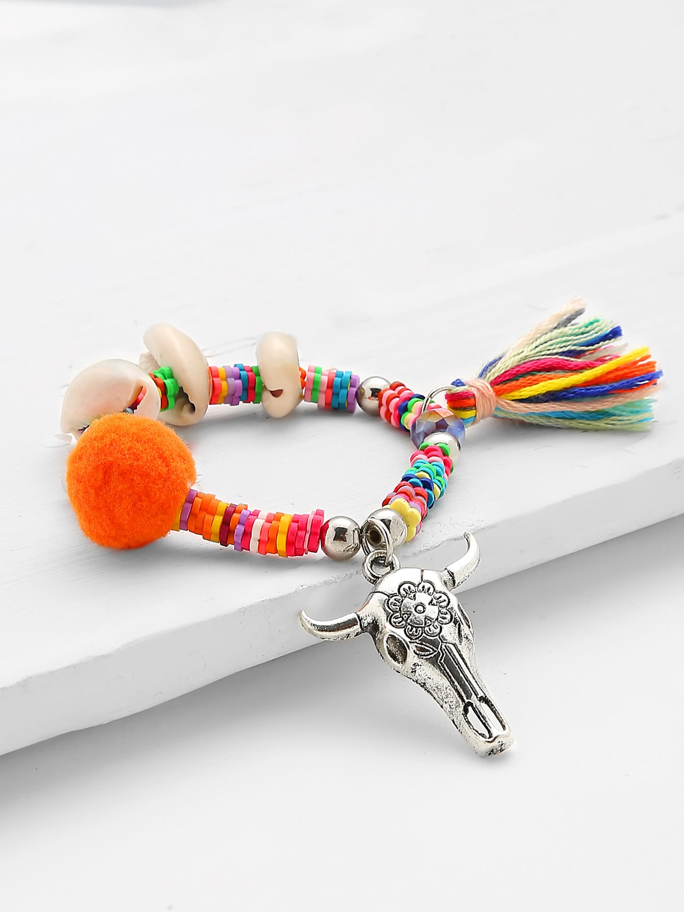 Фото Shell & Tassel Decorated Charm Bracelet. Купить с доставкой