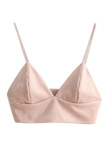 Suede Triangle Double Bar Bralette