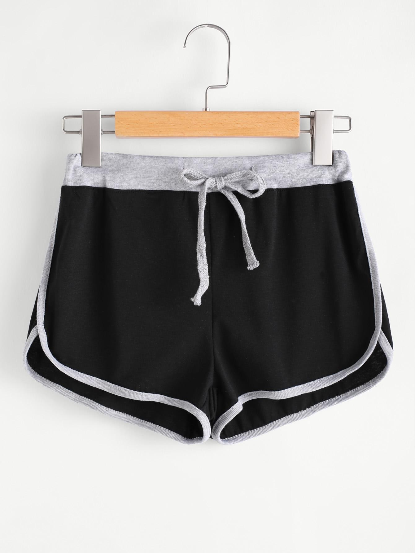 Drawstring Waist Ringer Shorts men elastic waist ringer shorts
