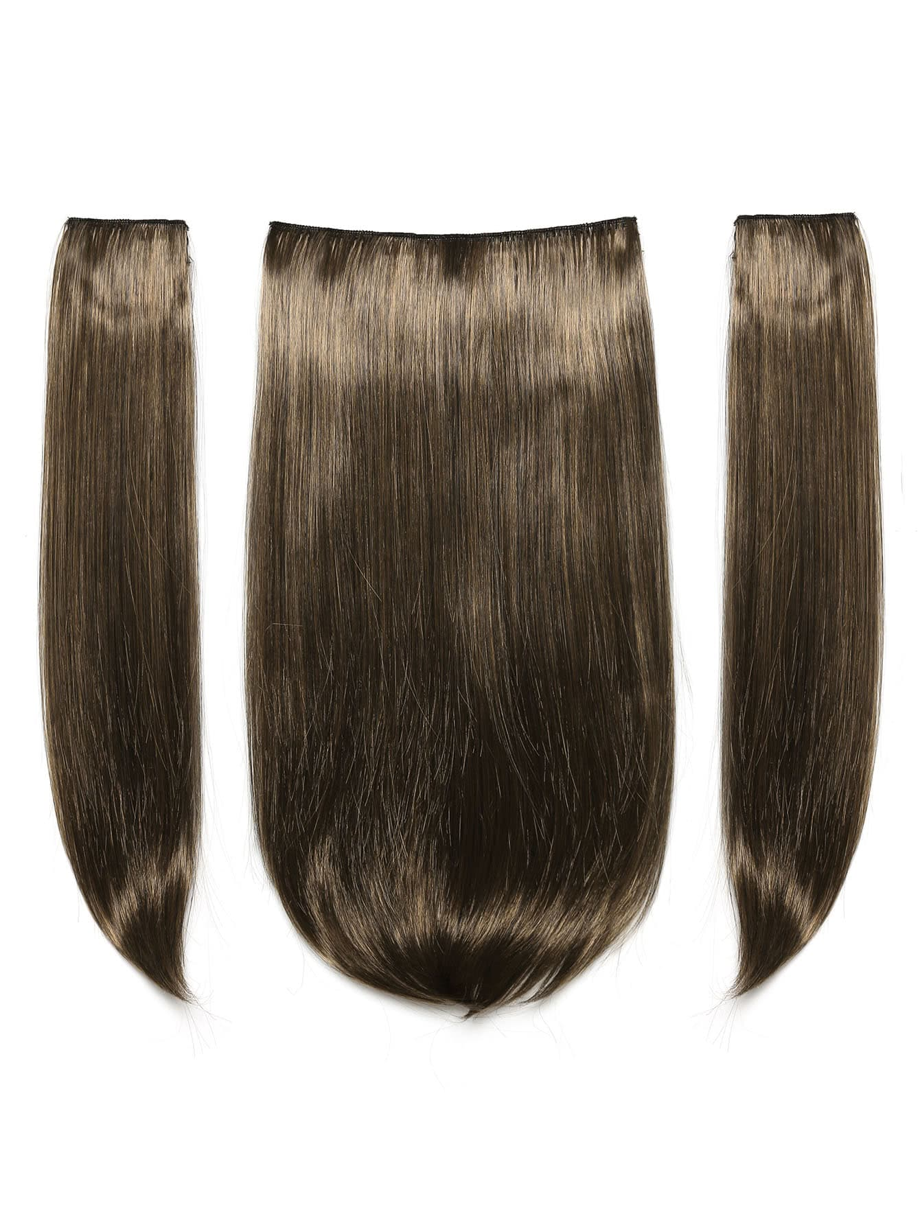 все цены на Dark Brown & Caramel Clip In Hair Extension 3pcs онлайн