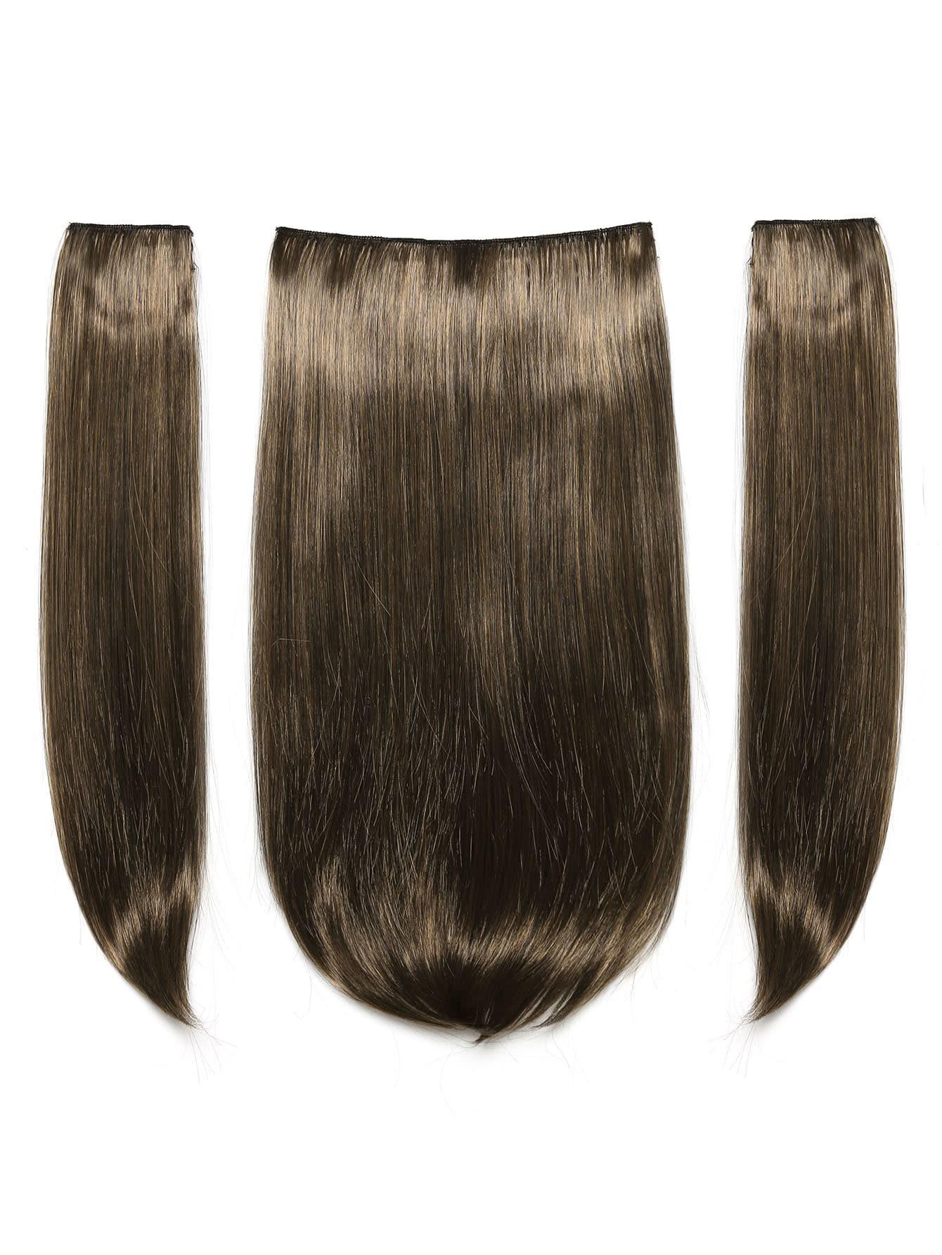 Dark Brown & Caramel Clip In Hair Extension 3pcs