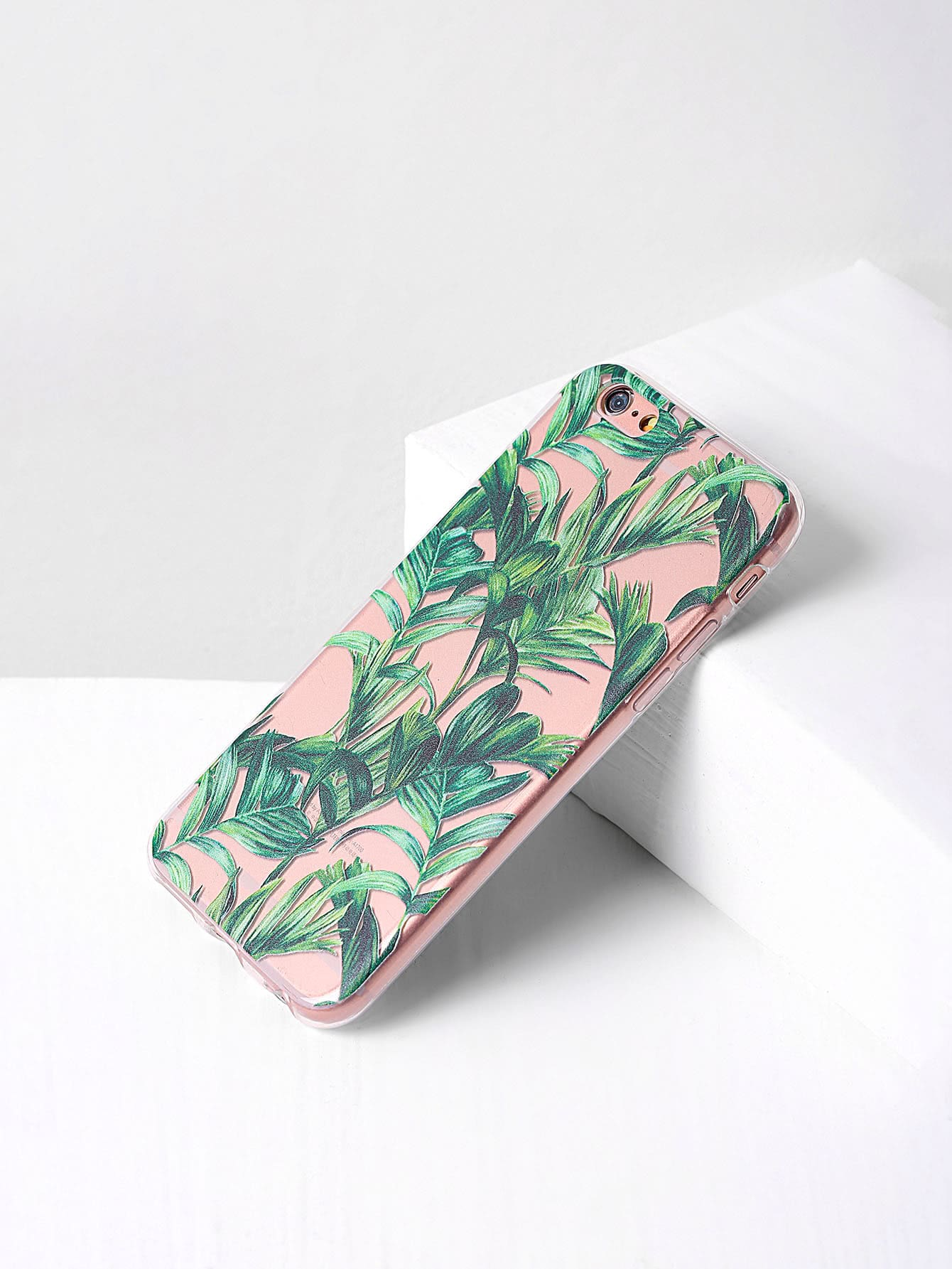 Green Leaf Print Clear iPhone Case клавиатура mp 09a33su 5282
