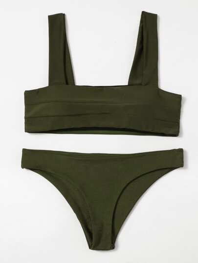 Double Wide Strap Bikini Set