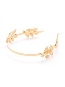 Leaf & Faux Pearl Detail Headband