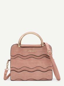 Модная кожаная сумка на регулируемом ремне