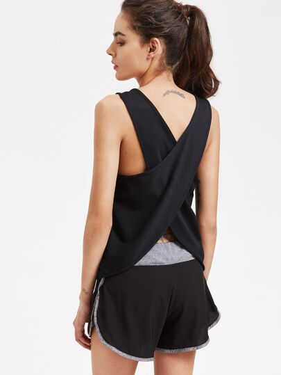 Wrap Back Sports Top