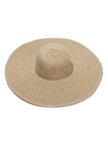 Oversized Floppy Straw Hat