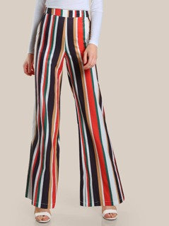 Barcode Stripe Flare Pants