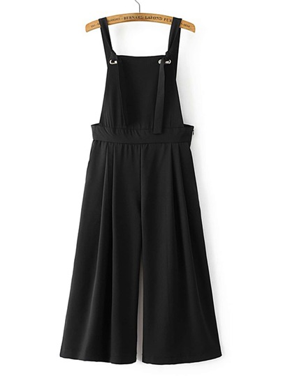 Wide Leg Backless Overalls