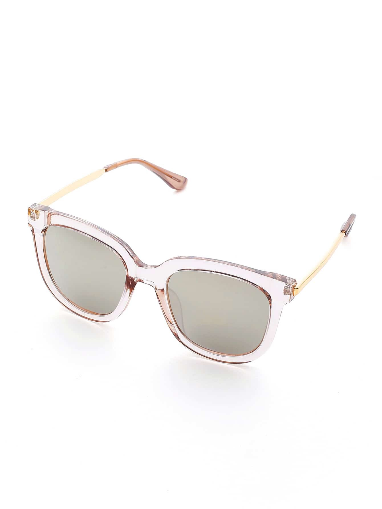 Фото Clear Frame Mirror Lens Sunglasses. Купить с доставкой