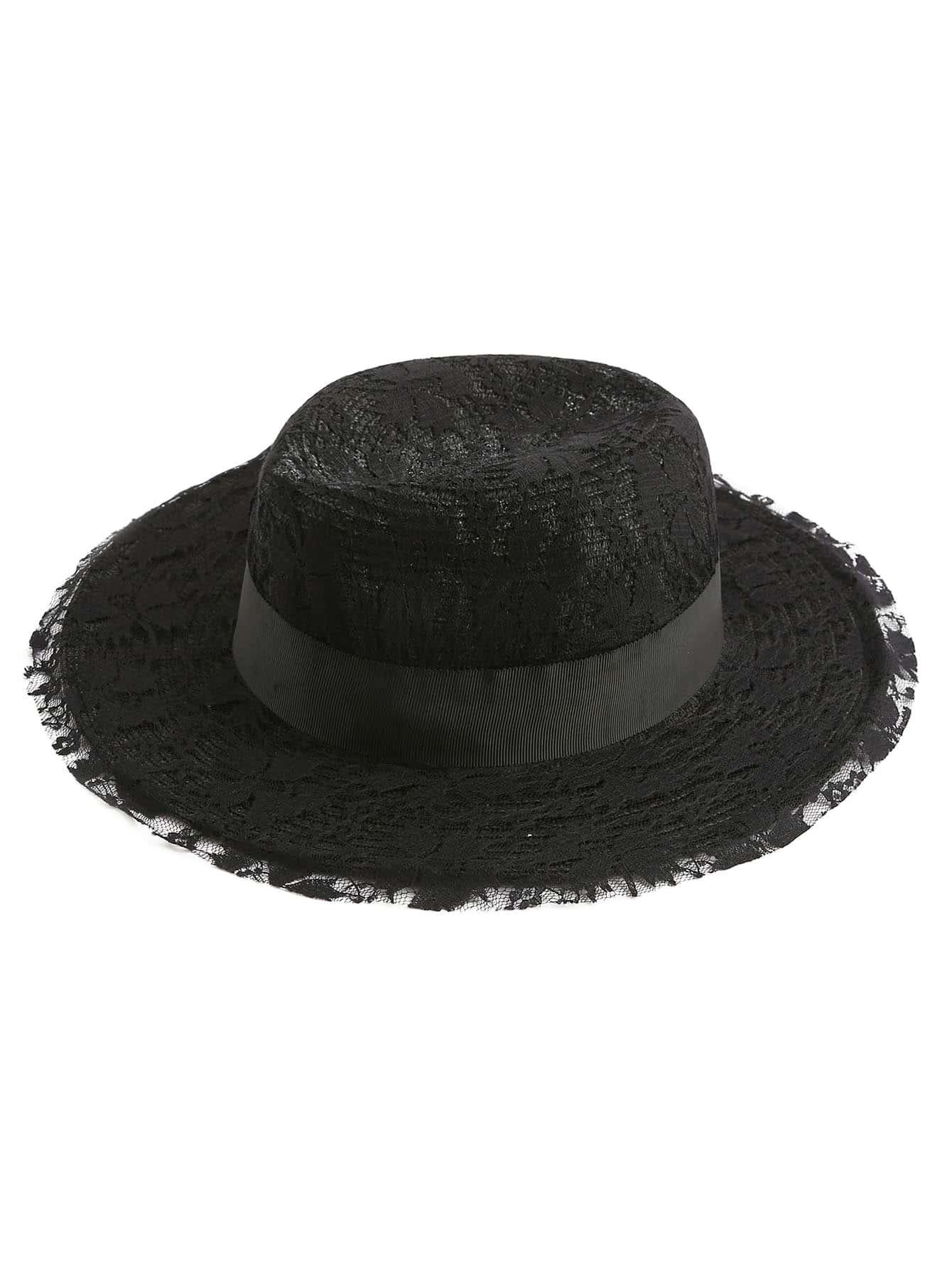 Фото Lace Overlay Fedora Hat. Купить с доставкой