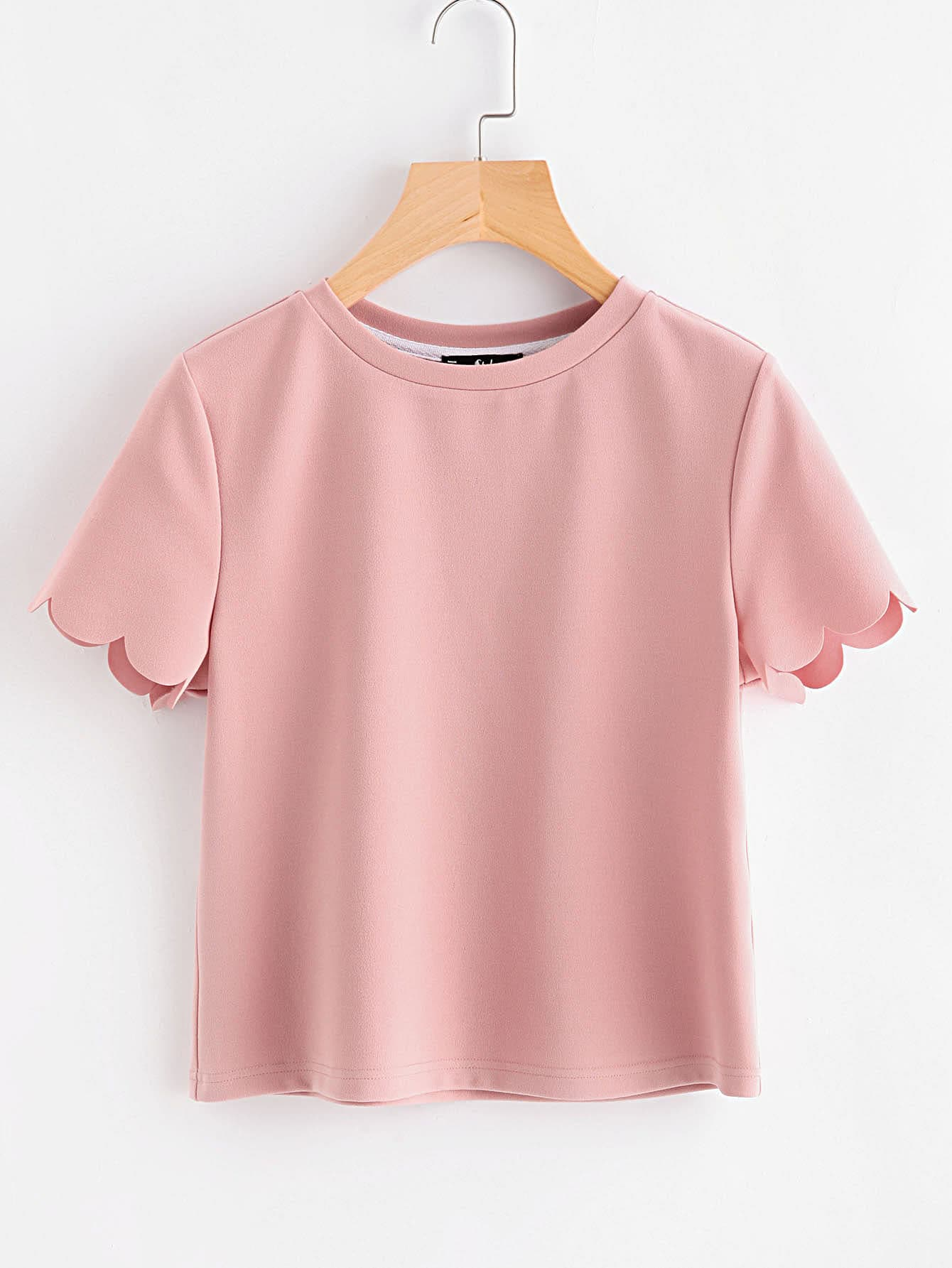 Scalloped Edge Sleeve Tee thumbnail