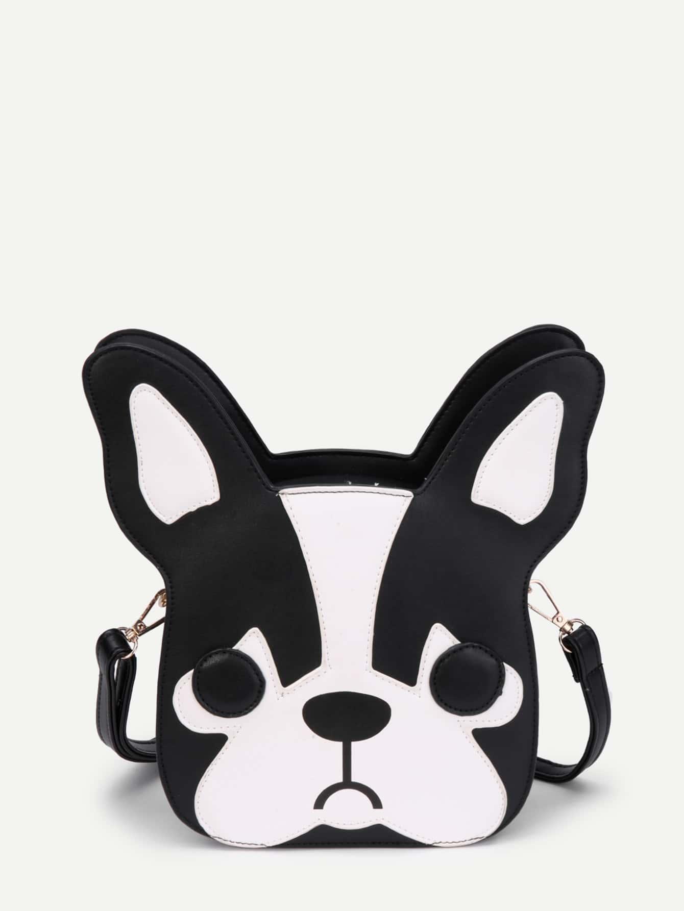 Фото Two Tone Dog Shaped PU Shoulder Bag. Купить с доставкой