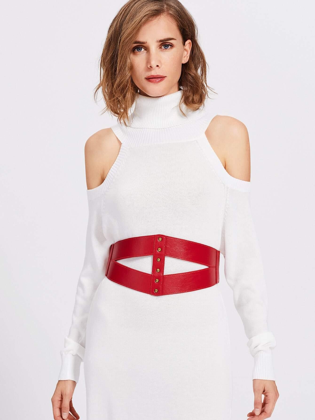 Triangle Cut Elastic Waist Belt