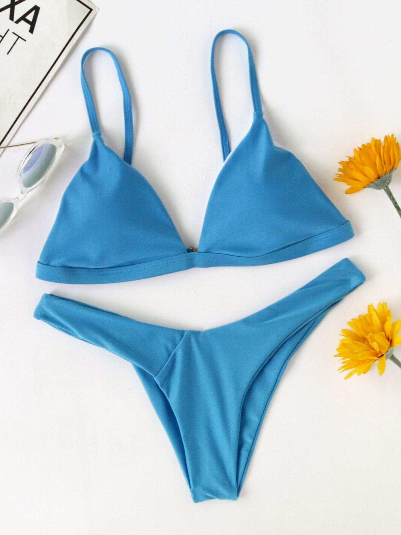 Фото High Leg Triangle Bikini Set. Купить с доставкой
