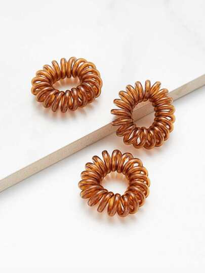Coil Hair Ties 3pcs