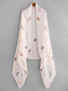 Pañuelo ligero con estampado de mariposa