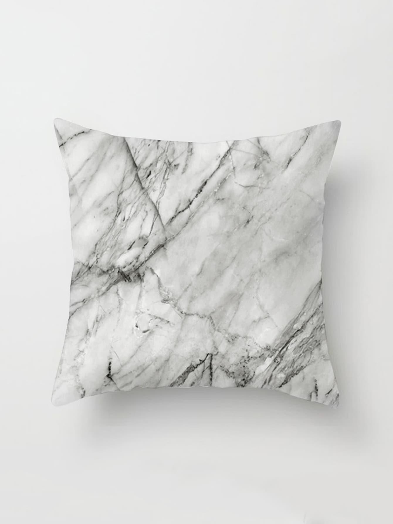Фото Marble Print Pillowcase Cover. Купить с доставкой