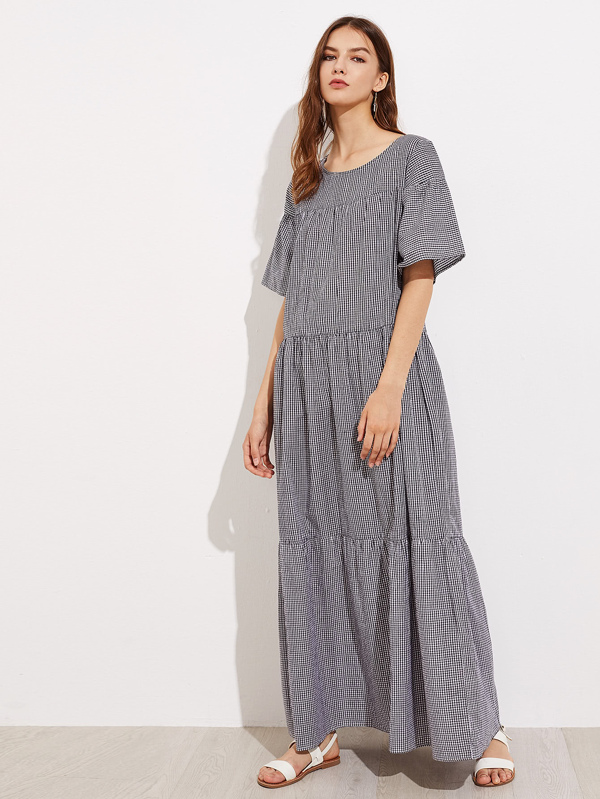 Tiered Ankle Length Dresses
