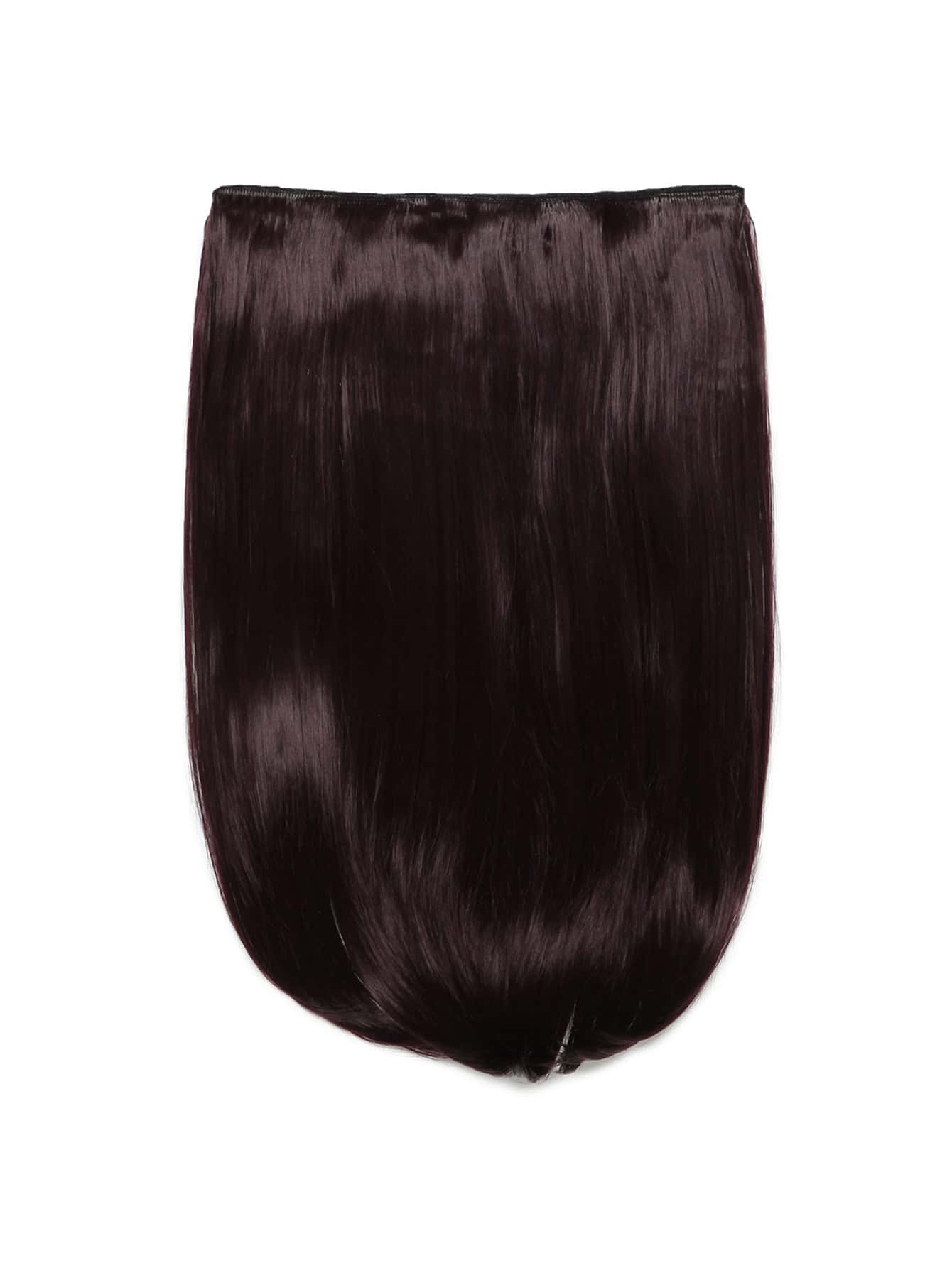Plum Clip In Straight Hair Extension