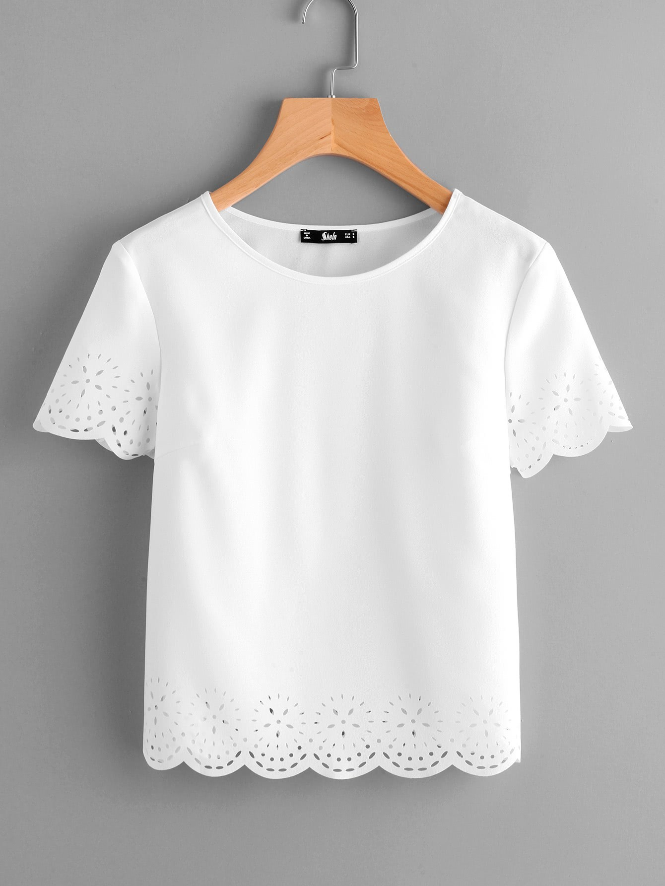 Фото - Laser Cut Scallop Hem Top laser cut pep hem top