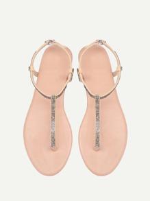 PU Toe Post Flat Sandals