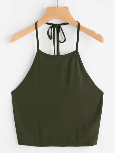 Self Tie Halter Top
