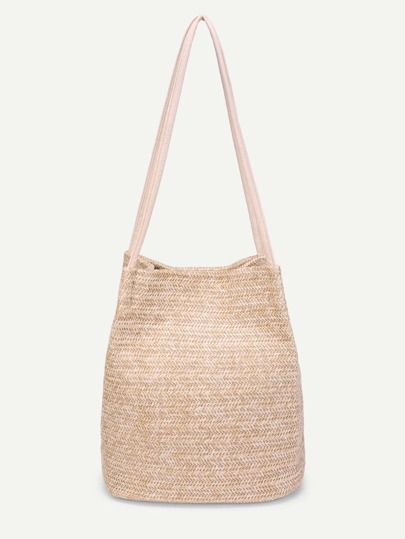 Simple Straw Tote Bag
