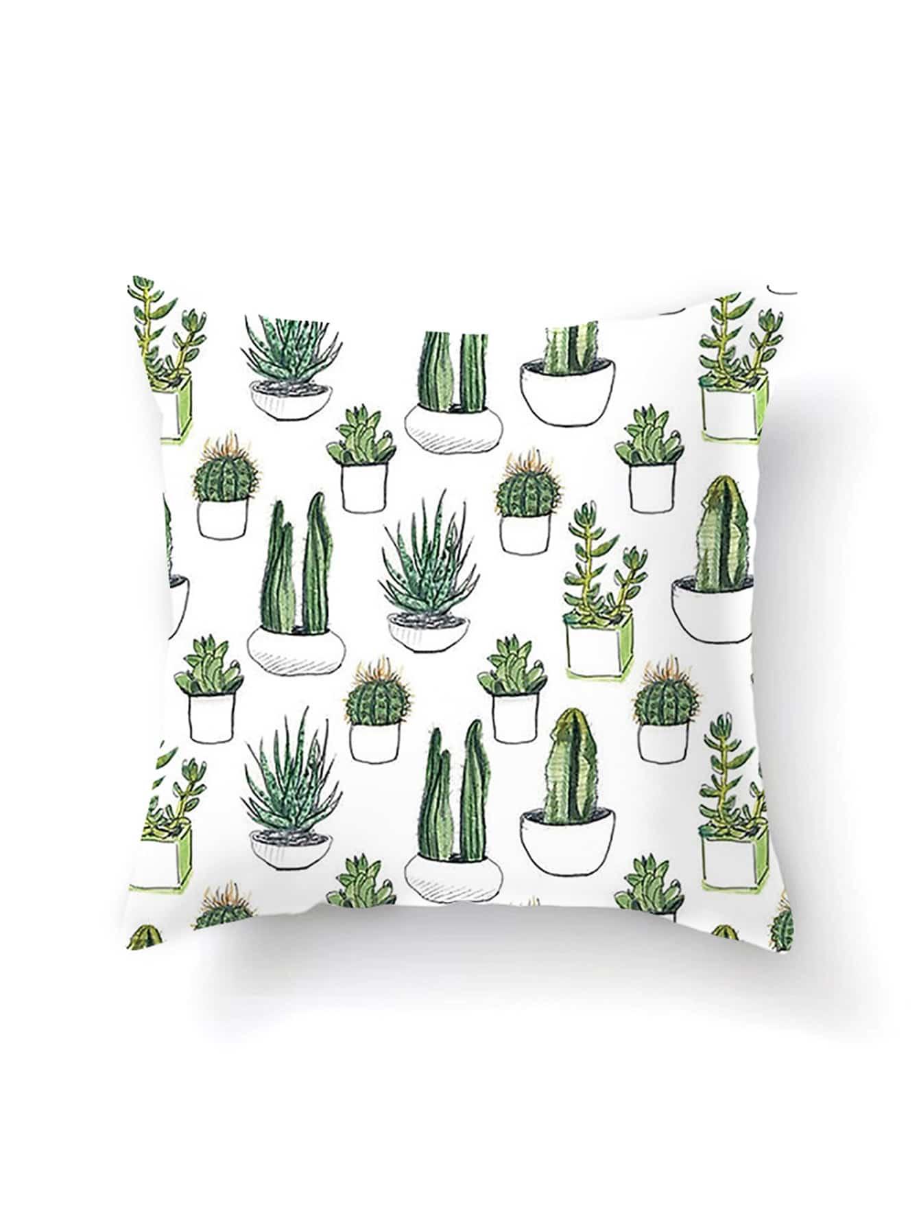 Cactus Print Cushion Cover