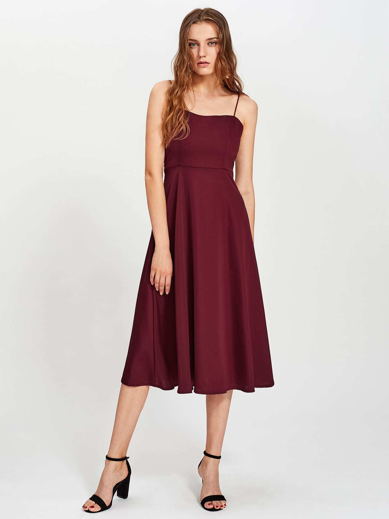 Фото Criss Cross Open Back Cami Dress. Купить с доставкой