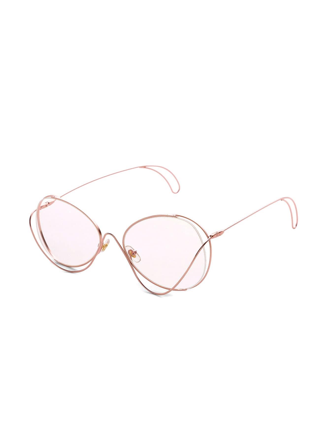 Фото Asymmetrical Frame Oval Lens Glasses. Купить с доставкой