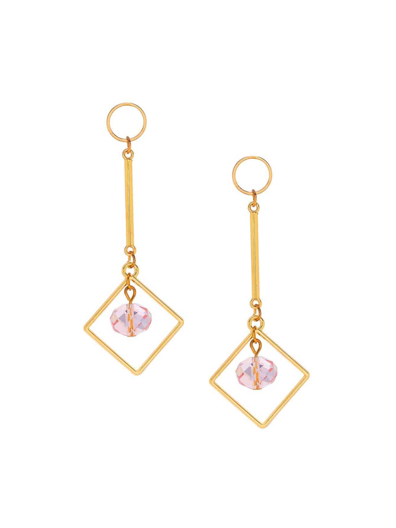 Фото Crystal Detail Geometric Drop Earrings. Купить с доставкой