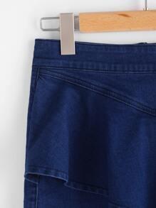 Gonna di jeans asimmetrico  immagini
