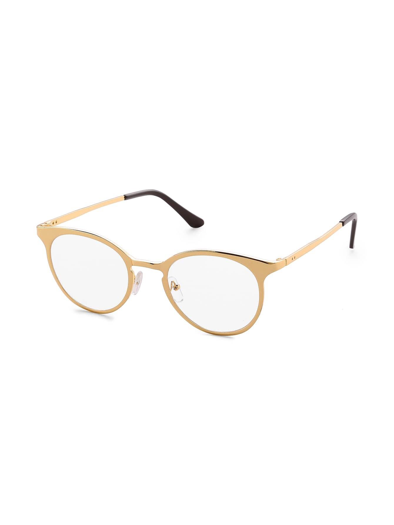 Фото Clear Lens Metal Frame Glasses. Купить с доставкой