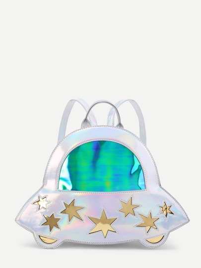 Star Pattern Iridescent Cute Backpack