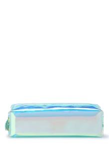 Bolsito de lapiz de color irisado con borla