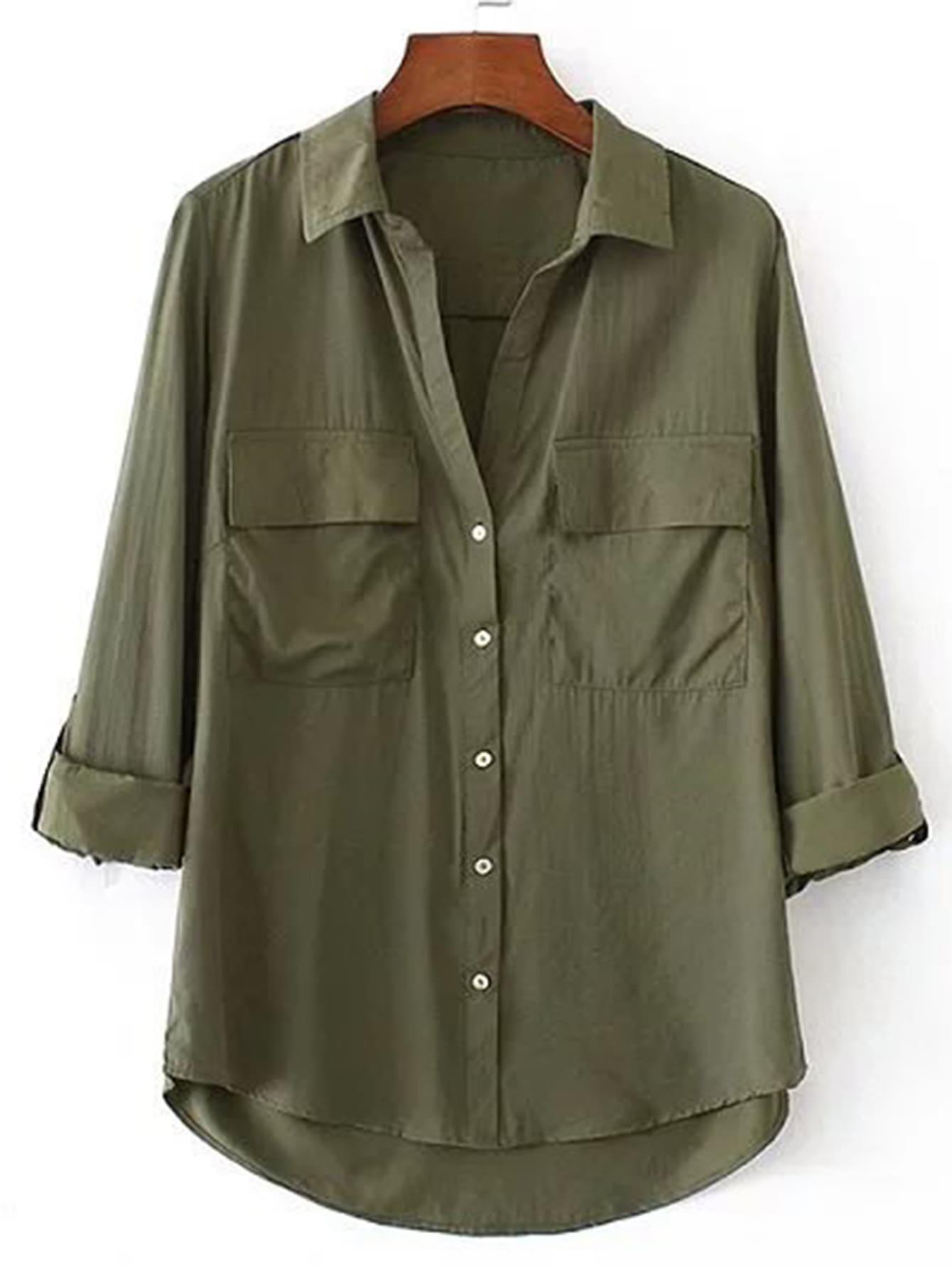 Модная асимметричная блуза