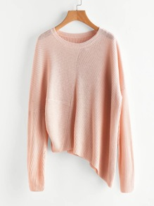Asymmetric Hem Loose Fit Jumper